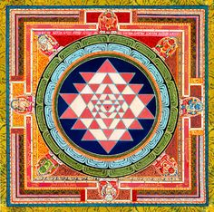 The Sri Yantra and it's mantra: Ka E I La Hrim Ha Sa Ka Ha La Hrim Sa Ka La Hrim