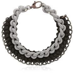 Alienina Women Odyssee Rope Necklace (265 BAM) ❤ liked on Polyvore featuring jewelry, necklaces, black and rope necklace