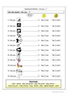 1 English Worksheets for Kids Fun Printable English Worksheets for Kids Fun Speaking Worksheet Can You Worksheet Free Esl √ English Worksheets for Kids Fun . 1 English Worksheets for Kids Fun . Speaking Worksheet Can You Worksheet Free Esl in Printable English Worksheets, English Worksheets For Kids, Verb Worksheets, Kindergarten Worksheets, In Kindergarten, Spanish Worksheets, Number Worksheets, Esl Worksheets For Beginners, Alphabet Worksheets
