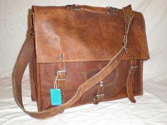18 Large Leather Messenger Bag Handmade Soft by creativeleather, $89.00