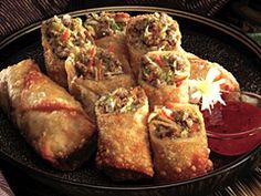 Jimmy dean sausage egg rolls. I put in a half package of Mae Fun rice sticks for a filler. Dip in sweet chili sauce....yummy!
