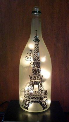 Cool Wine Bottles Craft Ideas (12) #recycledwinebottles #decoratedwinebottles