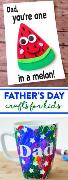 Fathers Day is fast approaching and that means its time to get crafting. These Fathers Day Crafts For Kids would be great ideas for your kids to make for their dad on Fathers Day! 'sday 's Dad Crafts, Mothers Day Crafts For Kids, Preschool Crafts, Diy Father's Day Gifts Easy, Father's Day Diy, Fathers Day Gifts, Gifts For Kids, Fathersday Crafts, Easy Toddler Crafts