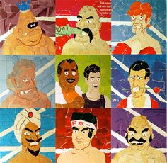 Punch Out Collage Prints