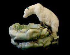 Ditmar Urbach 1930s -- large polar bear on an iceberg ceramic figurine or sculpture -- Made in Czechoslovakia -- marked.