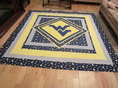 Katie S Quilts And Crafts A Beautiful Wvu Quilt Wvu Wv