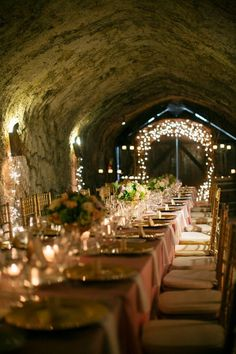 "breadandolives: "" Dinner in a Wine Cellar. """