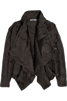 Quilted silk jacket by KAUFMANFRANCO; color: dark gray. Original price $1,695 now $508.50