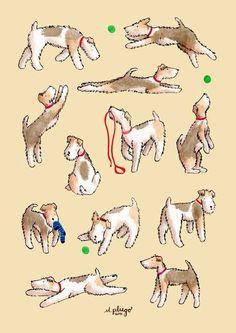 Foxies having fun Art Print by M.pliego