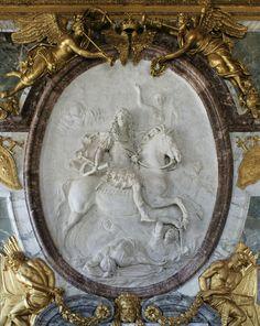 Château de Versailles, Grands Appartements du Roi, Le salon de la Guerre, ancien Grand cabinet du Roi, ou cabinet de Jupiter.