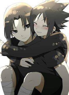 Naruto And Sasuke, Itachi Uchiha, Anime Naruto, Baby Sasuke, Naruto Chibi, Naruto Y Boruto, Naruto Cute, Manga Anime, Mangekyou Sharingan
