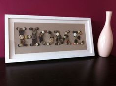 Bespoke HOME Button Art Picture In White Frame