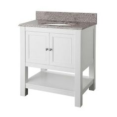 Foremost Gazette 30 in. Vanity in white with Granite Vanity Top in Napoli-GAWA3022NP at The Home Depot