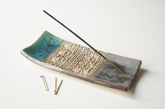 Incense Holder Ceramic Incense Tray Incense Burner Green by bemika