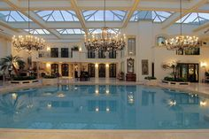 Fantastic Indoor Pool that comes with a Mansion
