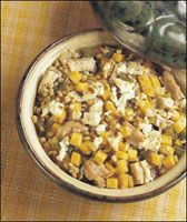 Butternut Squash & Barley Casserole with Turkey: 220 calories per serving Thanksgiving Turkey, Thanksgiving Recipes, Whipped Sweet Potatoes, Turkey Casserole, Butternut Squash, Main Dishes, Good Food, Healthy Eating, Nutrition