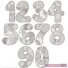 natur animals Zentangle Numbers Set 0 9 coloring page from Zentangle Numbers category. Select from 27948 printable crafts of cartoons, nature, animals, Bible and many more. Colouring Pages, Adult Coloring Pages, Coloring Books, Coloring Sheets, Hand Lettering Alphabet, Doodle Lettering, Printable Crafts, Printable Alphabet, Alphabet And Numbers