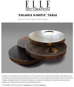 Solaris table, designed by Lara Bohinc for Lapicda lapicida.com http://www.elledecoration.co.uk/shopping/solaris-kinetic-table-lara-bohinc/