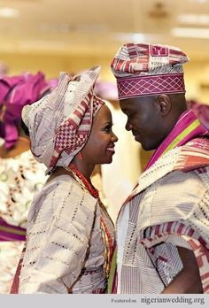 Nigerian Wedding Colors: Aso-Oke Color Matching Ideas For Traditional Engagement Ceremony | Nigerian Wedding