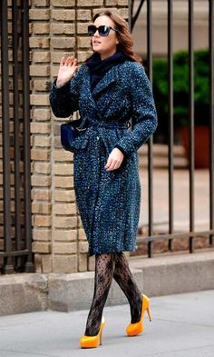 Leighton Meester Channelling Blair Waldorf On The Set Of Gossip Girl In New York, March 2012