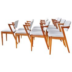 """Kai Kristiansen Teak """"Z"""" Chairs Model 42, Set of 4 
