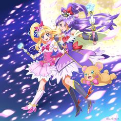 Mahou Tsukai Precure. Not my favorite Cures, but they're okay.