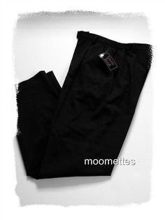 NEW Laura Scott #Pants Slacks #Black Career Casual Stretch Trouser Womens 10  #LauraScott #CareerCasual