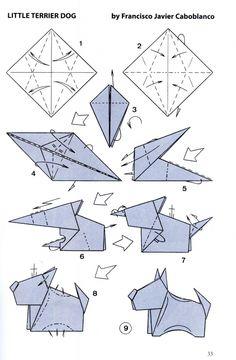 origami chien