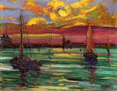 "terminusantequem: ""Carlo Carrà (Italian, 1881-1966), Venezia, 1907. Oil on wood, 31,3 x 39,5 cm """