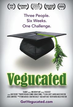Vegucated - If you're on the fence about going vegetarian or vegan, this film might sway you in the direction of taking the leap. It follows three meat-loving New Yorkers of various stripes as they are switched to a vegan diet and educated about the ways in which animals are farmed. You can watch the trailer here and the full film here.