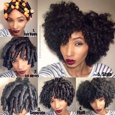 """""""❤️❤️❤️ @baronesscountess Quick Pictorial for my Perm Rod set on stretched dry hair and fluffed into a curly fro!☺️❤️#Hair2mesmerize #naturalhair"""""""