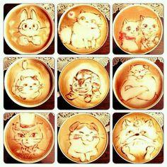 Gatos Ghibli en el café... ¡como para removerlos! xD