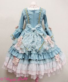 Antoinette Princess Dress Set by Angelic Pretty Harajuku Mode, Harajuku Fashion, Kawaii Fashion, Lolita Fashion, Cute Fashion, Fashion Outfits, Fashion Styles, Mode Geek, Mode Lolita