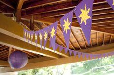 Decoração festa Rapunzel