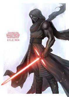 "imthenic: ""Star Wars fan art by Han Yau Ng "" Star Wars Pictures, Star Wars Images, Cool Pictures, Star Wars Kylo Ren, Star Wars Jedi, Knights Of Ren, Jedi Sith, Star Wars Tattoo, Cult"