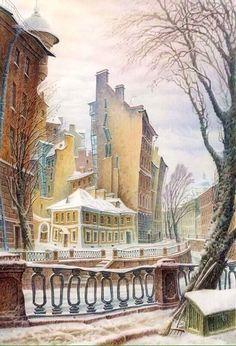 Архитектура и колорит на картинах Владимира Колбасова.