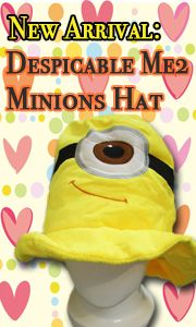 9f140528fb1  8.99 Cute Kawaii Anime Hat Rave Beanie Cap Furry Plush Cosplay Despicable  Me 2 Minions Hat T3