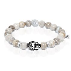 Body - Silver Leaf Jasper Buddha Dharma Stone Bracelet The Body bracelet, of the Vajras Series, is crafted from Silver Leaf Jasper Stones. Jasper is nourishing and focused; it represents vitality and determination. - See more at: http://www.josephnogucci.com/collections/dharma-stone/products/dharmastone-body