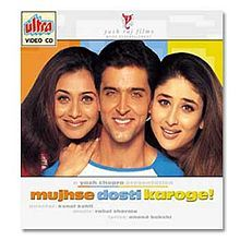 2002--Mujhse Dosti Karoge?  Suffers from the Brittany Spears-ification of the costumes, the inexplicable weight Catholic iconography plays for practicing Hindus and a very silly Karina Kapoor. I'm also pretty sure they have Pringles for breakfast at one point.