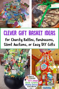 Creative Raffle Basket Ideas for a Charity, School or Fundraising Raffle or Silent Auction November - Trend Dollar Tree Gifts 2019 Family Gift Baskets, Creative Gift Baskets, Gift Baskets For Women, Raffle Gift Basket Ideas, Raffle Baskets, Gift Ideas, Christmas Gift Themes, Christmas Gift Baskets, Theme Baskets