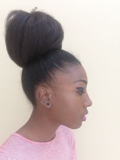 4C, Hair Afro hair, Natural Afro Hair, Afro High Buns, 4c Hairstyle, Protective Natural Hairstyle