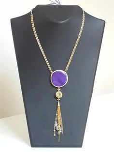 Natural stone and crystal necklace