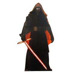 """With the 74""""x 31.5"""" Star Wars Force Awakens Kylo Ren Cardboard Cutout, you will always have some Sith backup at your disposal. I like to keep mine in the back seat of my car to dissuade would-be vandals when I park in crowded public areas. No one wants a three-pronged lightsaber to contend with. So do the smart thing and protect your home and belongings from Rebel scum with the Star Wars Force Awakens Kylo Ren Cardboard Cutout."""