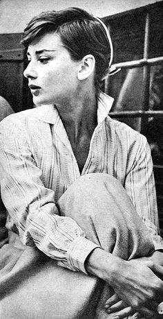 Audrey Hepburn's short hair