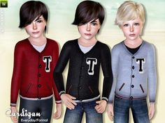 Cardigan for boys by Lillka - Sims 3 Downloads CC Caboodle