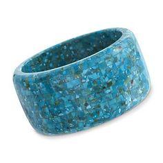 """Turquoise Mosaic Bangle Bracelet. 7"""""""