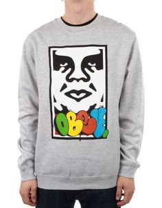 OBEY CLOTHING OBEY X COPE 2 TAKEOVER - HEATHER GREY - £ 69.95