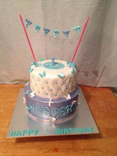 Quilted birthday cake.