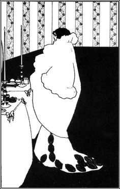 La Dame aux Camelias from 'Yellow Book', Aubrey Beardsley