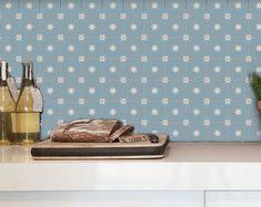 Tile Decals Tiles for Kitchen/Bathroom Back splash Floor | Etsy Removable Vinyl Wall Decals, Tile Decals, Vinyl Tiles, Wallpaper Please, Vinyl Wallpaper, Wallpaper Samples, Floor Decal, Floor Stickers, How To Install Wallpaper
